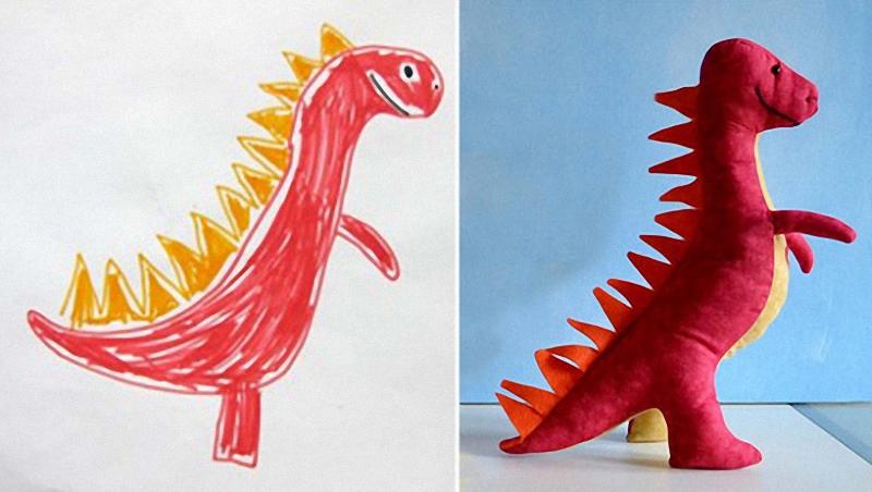241 Игрушки, сшитые по рисункам детей