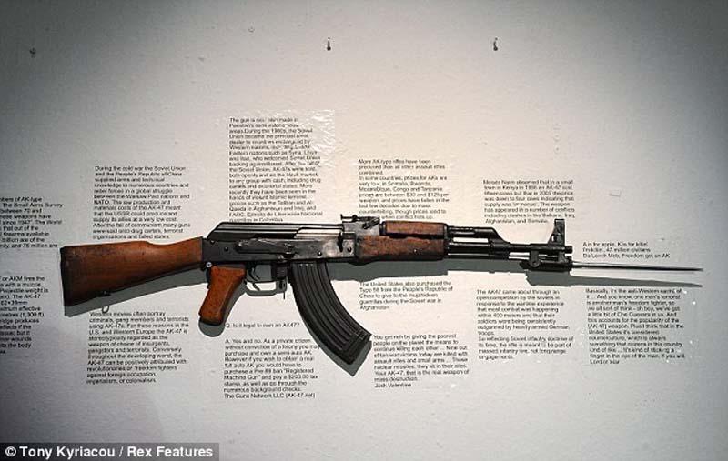 AK47 9 Нет оружию   AK 47 превращен в произведение искусства
