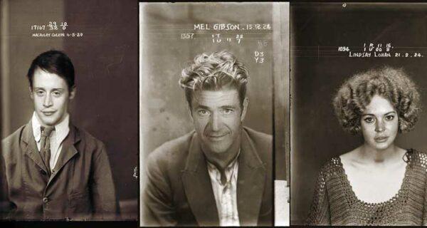 Фото знаменитостей в криминальном ретро-стиле
