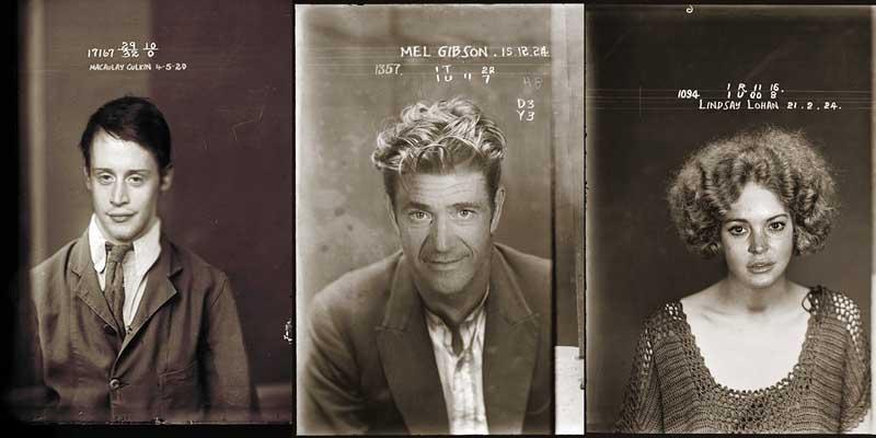 BIGPIC23 Фото знаменитостей в криминальном ретро стиле