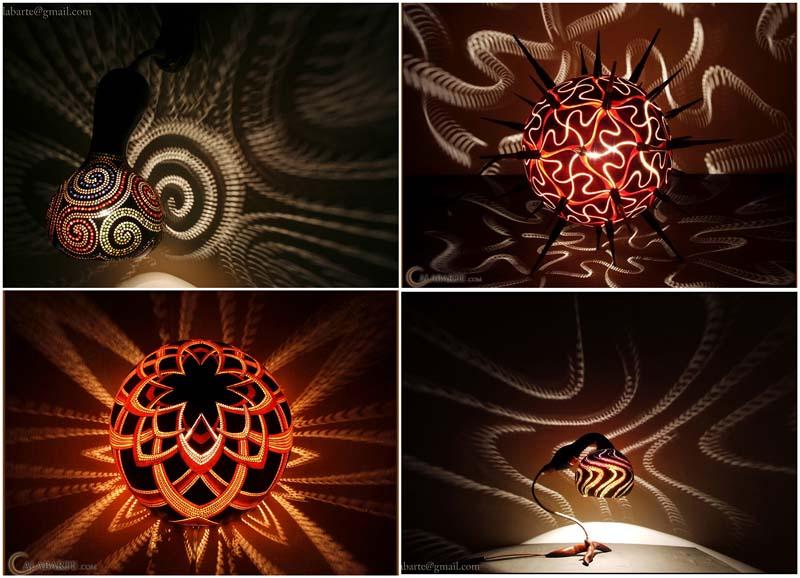 BIGPIC37 Удивительные светильники из тыкв   произведения искусства