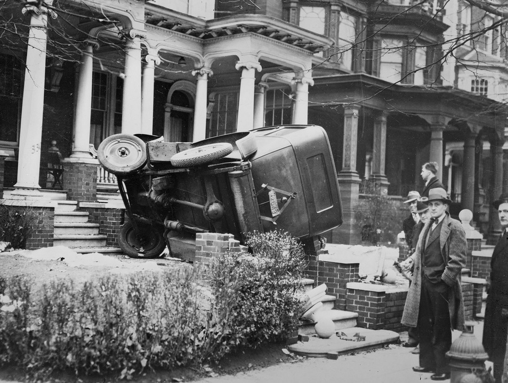 Boston Public Library 1 Автомобильные аварии, 80 лет назад