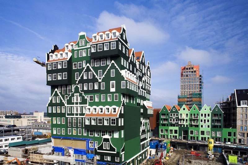 Inntel hotel 1 Необычный отель конструктор в Нидерландах