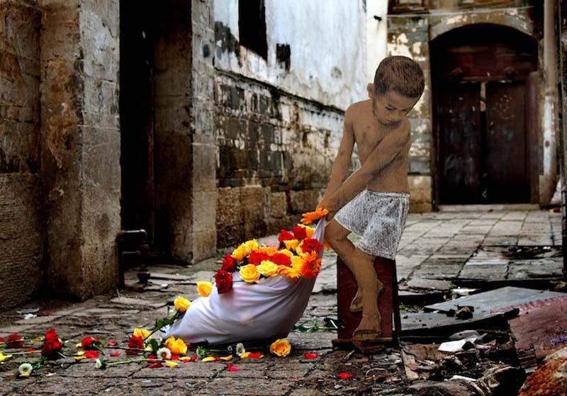 Michael Aaron Williams 1 Картонные бездомные дети на улицах мегаполисов