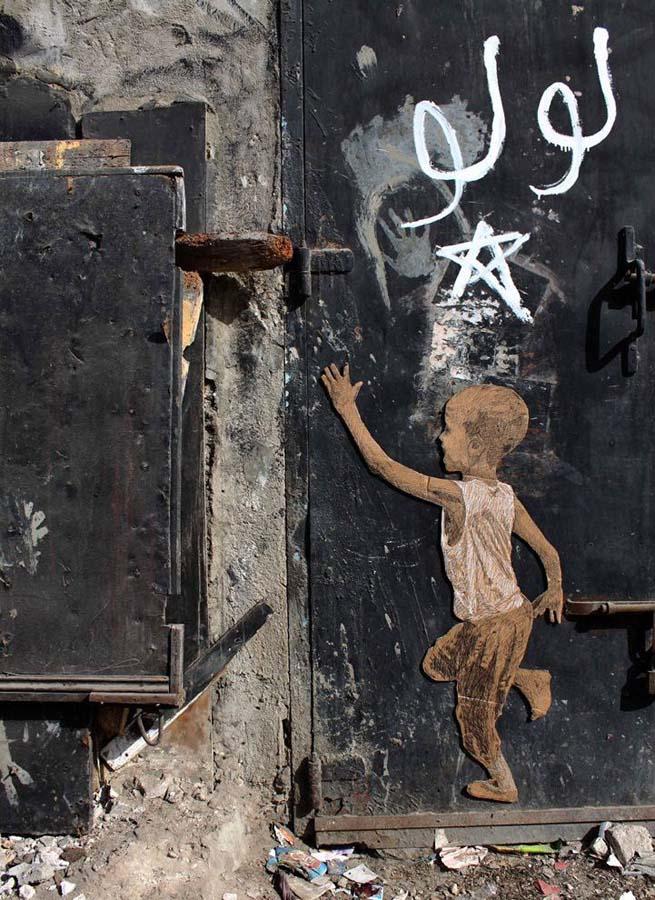 Michael Aaron Williams 14 Картонные бездомные дети на улицах мегаполисов