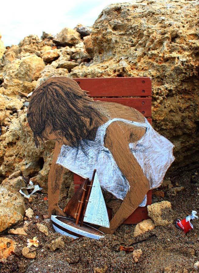 Michael Aaron Williams 7 Картонные бездомные дети на улицах мегаполисов