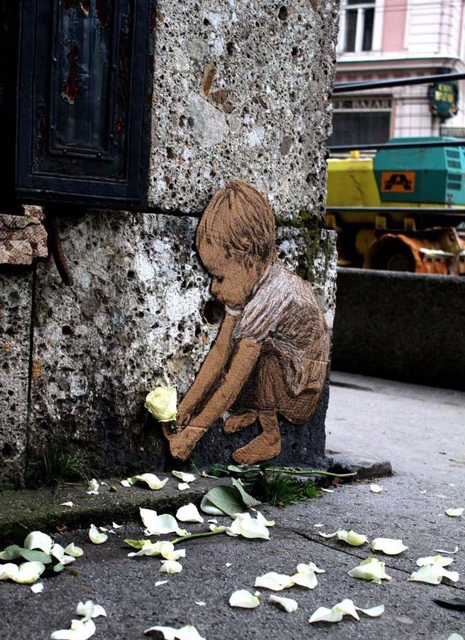 Michael Aaron Williams 8 Картонные бездомные дети на улицах мегаполисов