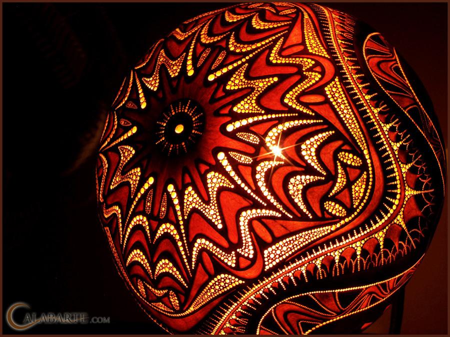 beauty 27 Удивительные светильники из тыкв   произведения искусства