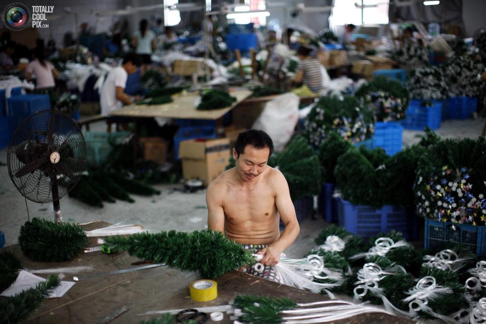 china02 Ранняя подготовка к новогодним праздникам в Китае