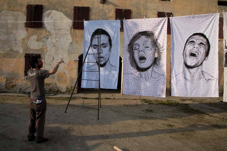 diegobeyro 1 Портреты на простынях Диего Бейро