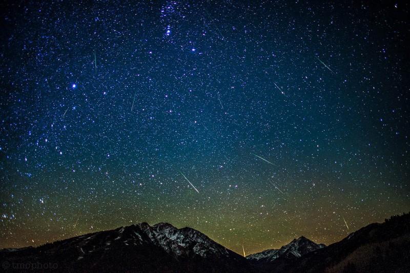 Метеоры потока Ориониды 2012