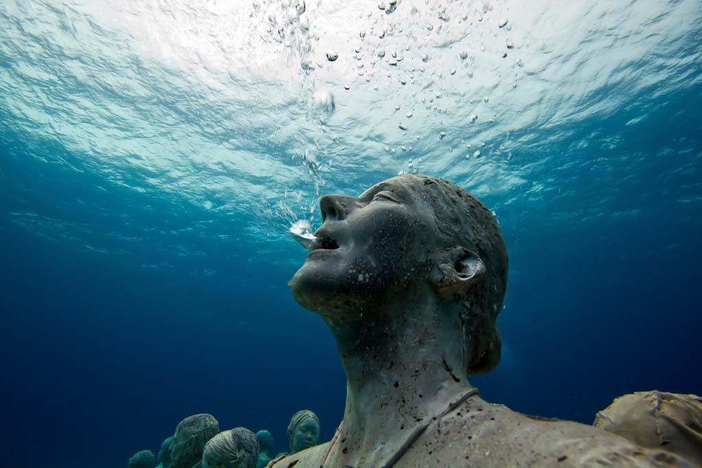 Подводный музей муза мексика канкун