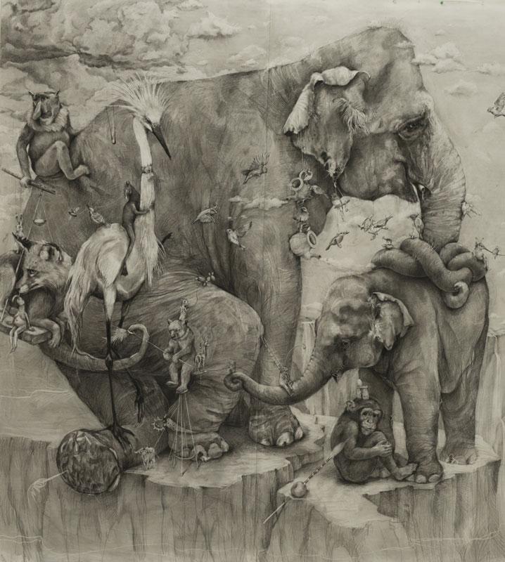 Adonna Khare's Amazing 3 Рисунок карандашом в 26 кв.м.