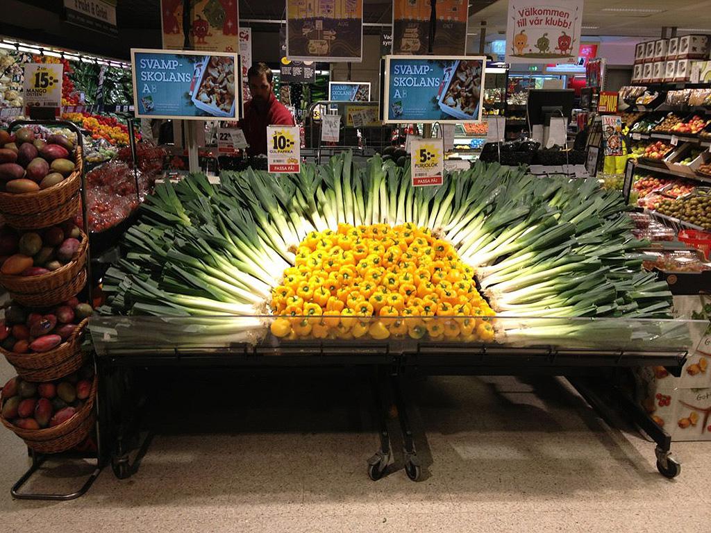 Artful Displays of Vegetables 1 Красочные овощные мозаики на выставках и ярмарках