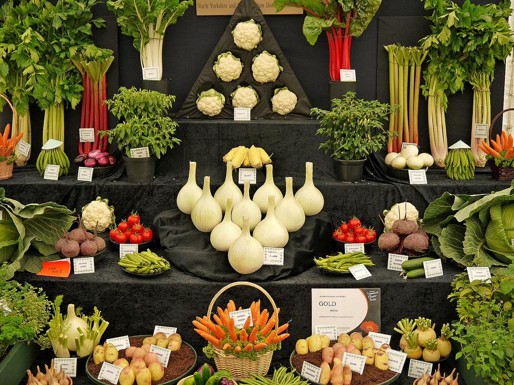 Artful Displays of Vegetables 9 Красочные овощные мозаики на выставках и ярмарках