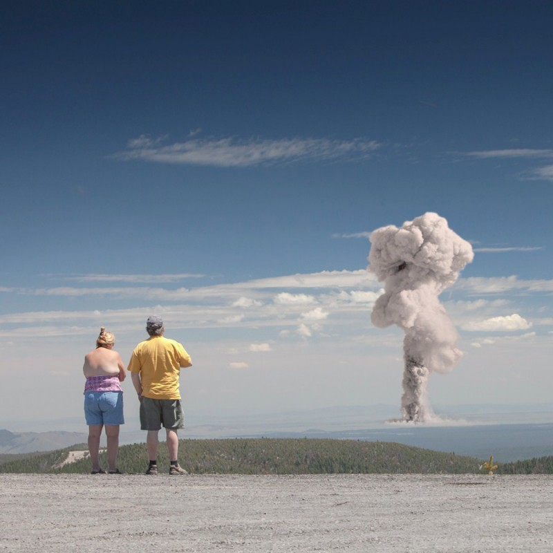 Вид на атомный взрыв