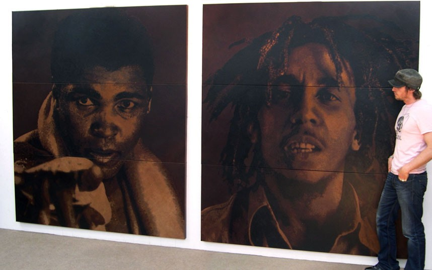 Frieze Art Fair 15 Картины на коже