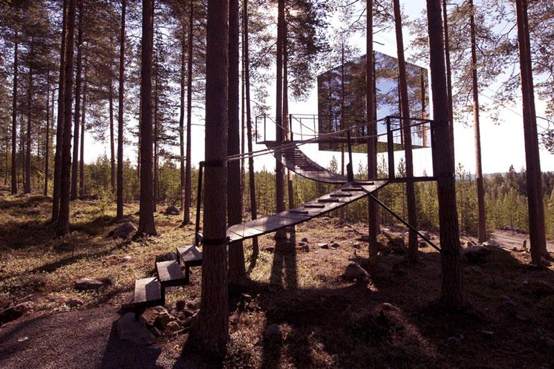 Nature Lovers 1 Отель Treehotel в Швеции для любителей природы