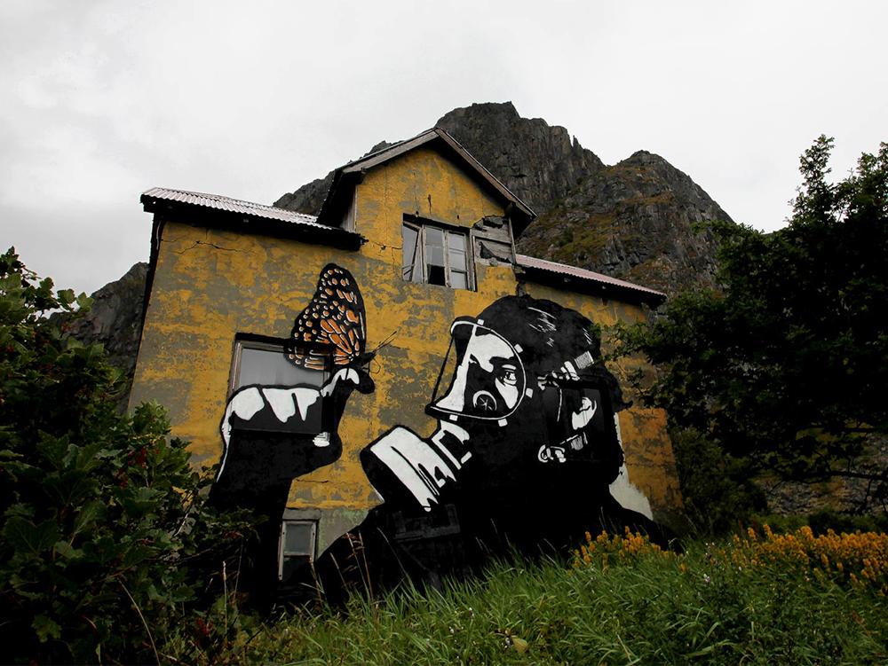 Pobel 11 Уличный художник Pøbel из Норвегии