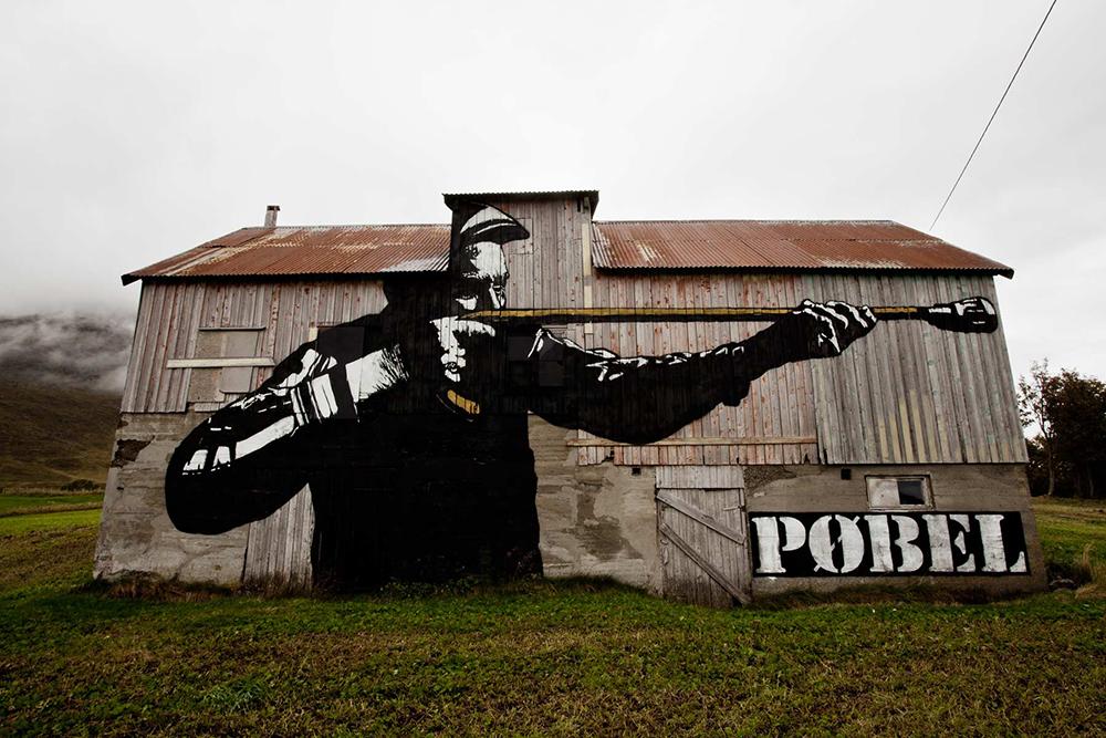 Pobel 14 Уличный художник Pøbel из Норвегии