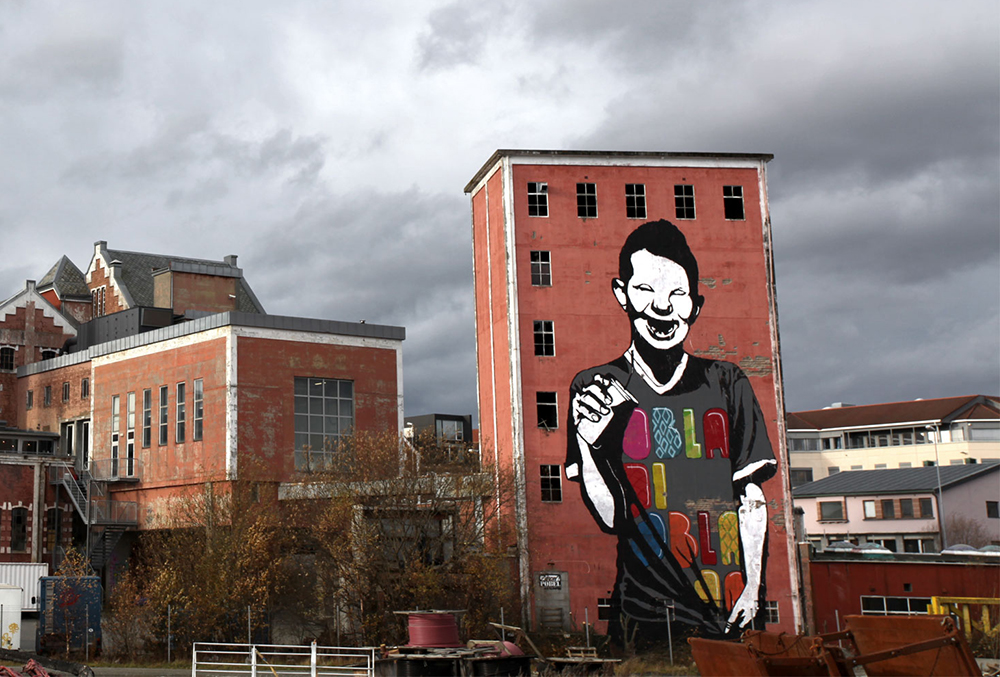 Pobel 15 Уличный художник Pøbel из Норвегии