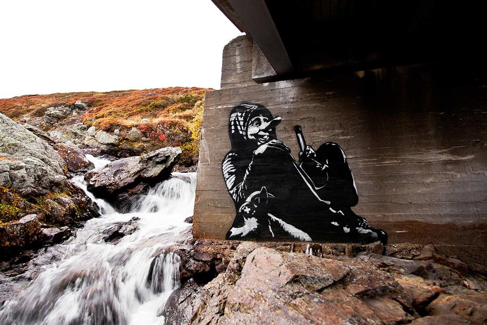 Pobel 17 Уличный художник Pøbel из Норвегии