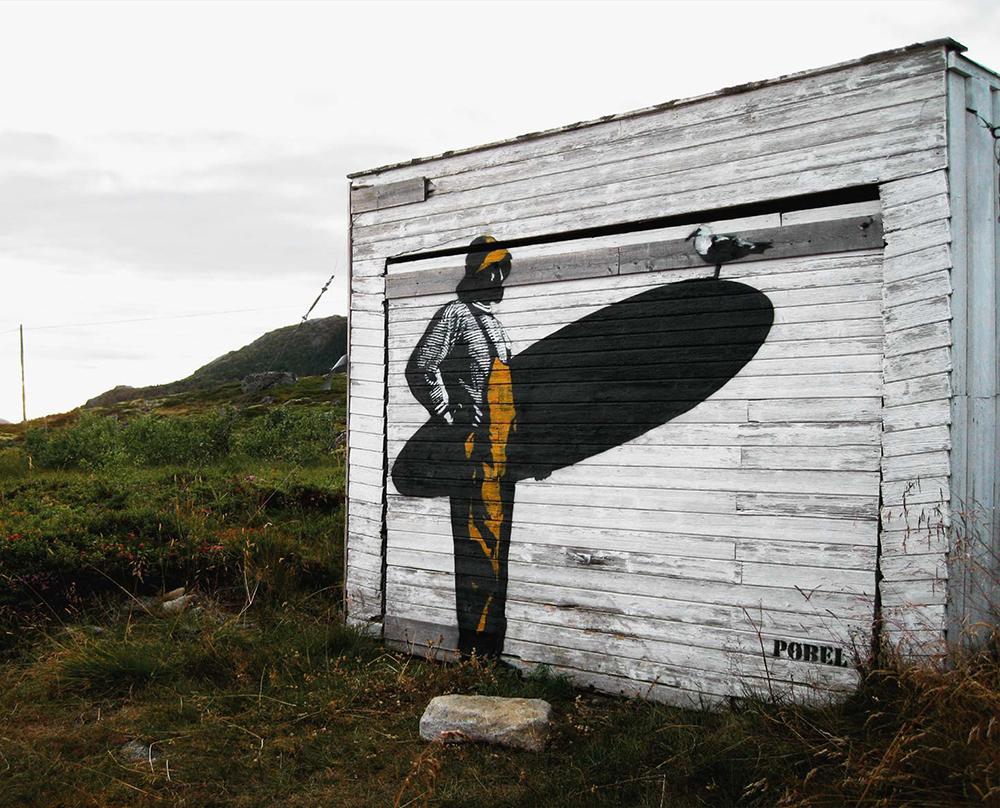 Pobel 18 Уличный художник Pøbel из Норвегии