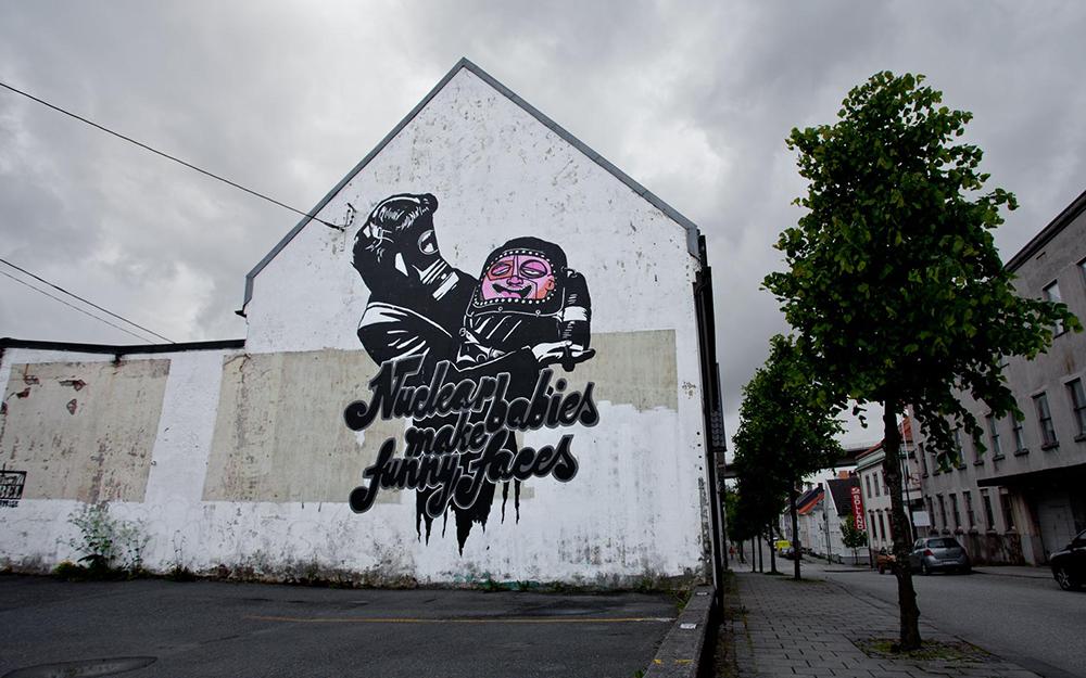 Pobel 19 Уличный художник Pøbel из Норвегии