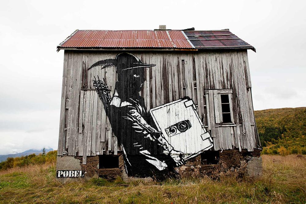 Pobel 3 Уличный художник Pøbel из Норвегии