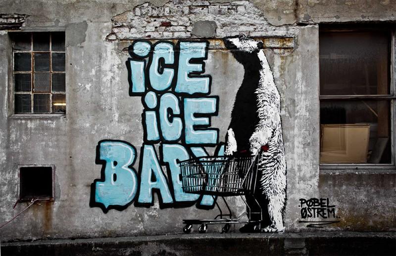 Уличный художник Pøbel из Норвегии