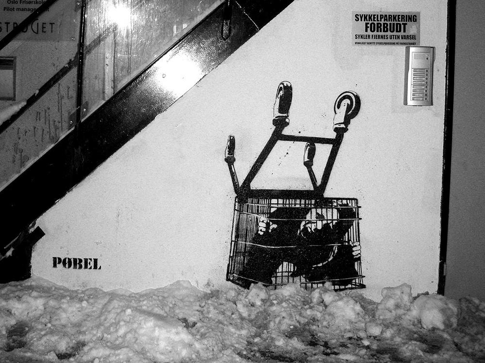 Pobel 7 Уличный художник Pøbel из Норвегии