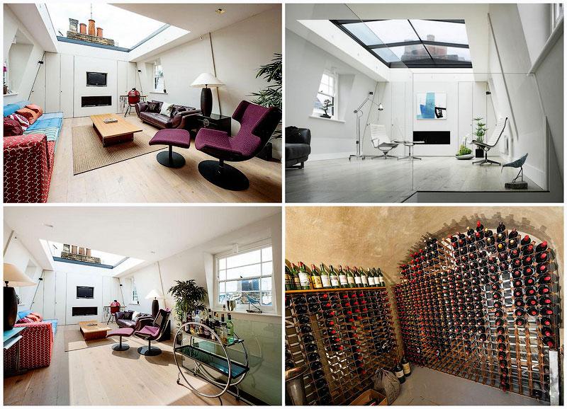 TEMP10 Лондонский дом со стеклянной крышей