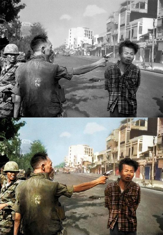 Thich Quang Du 2 Знаменитые черно белые фотографии в цвете