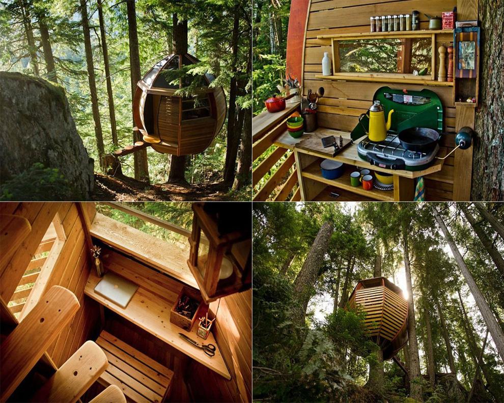 Tree Houses For Adults 5 Недетские дома на деревьях
