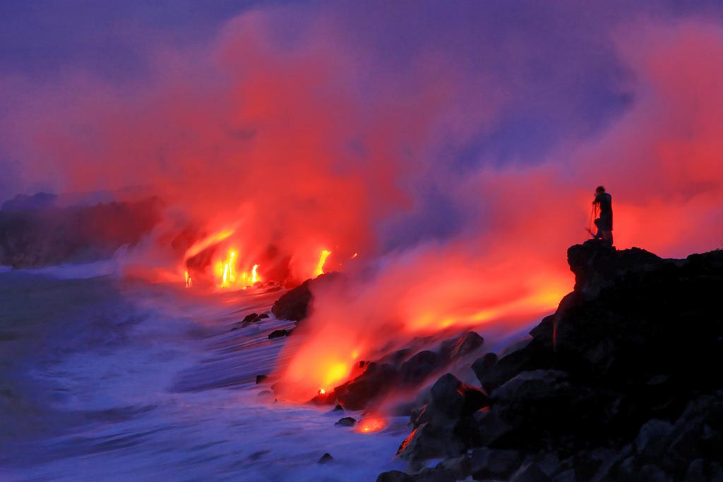 When Lava Meets Water 1 Когда лава встречается с водой