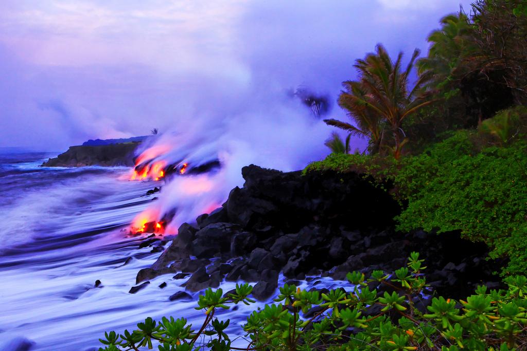 When Lava Meets Water 3 Когда лава встречается с водой