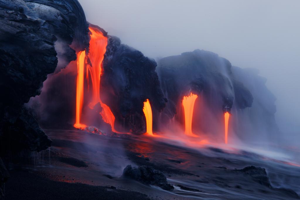 When Lava Meets Water 6 Когда лава встречается с водой