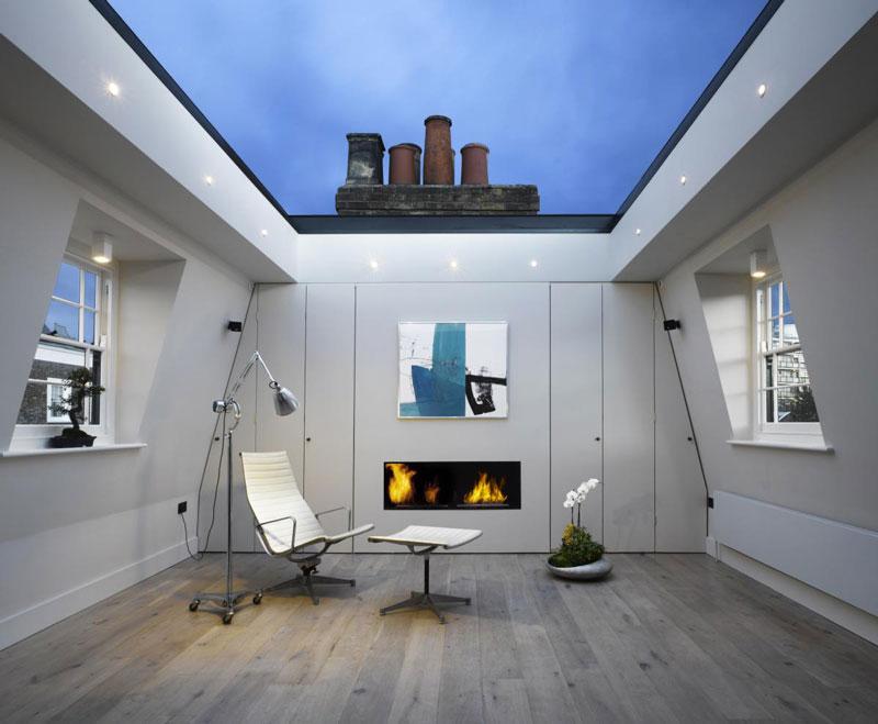 houseinLondon 1 Лондонский дом со стеклянной крышей
