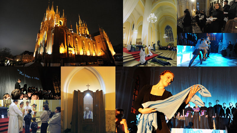Один вечер из жизни Римско-Католического кафедрального собора в Москве