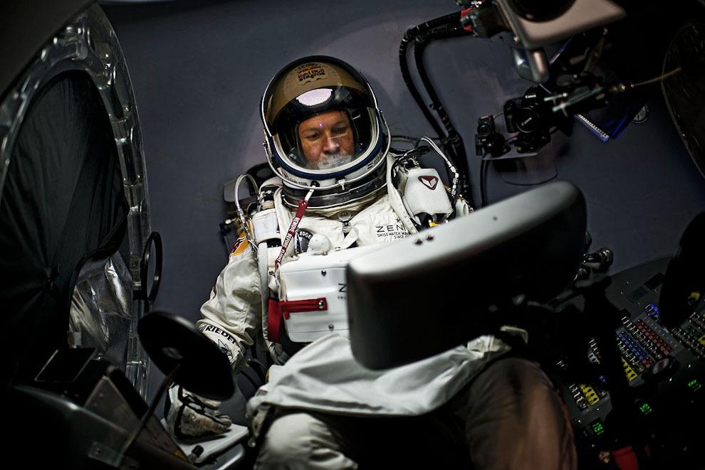 space15 Феликс Баумгартнер совершил прыжок изкосмоса