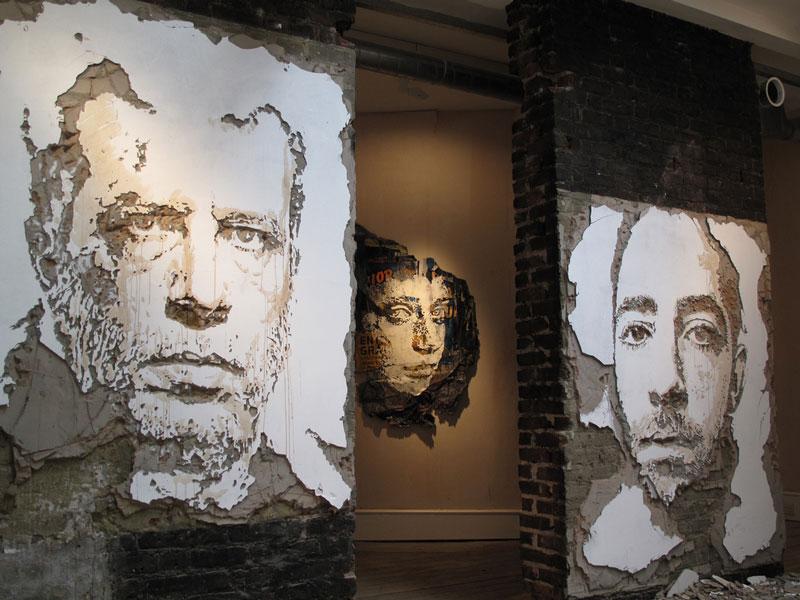 street art portraits 11 Портреты высеченные на стенах