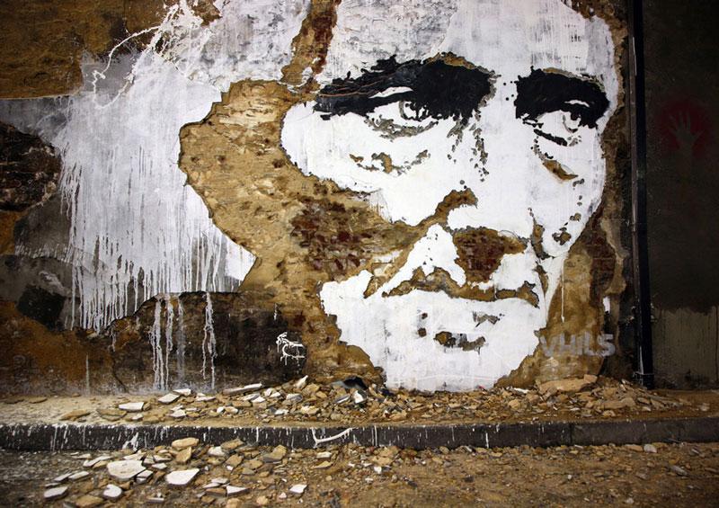 street art portraits 13 Портреты высеченные на стенах