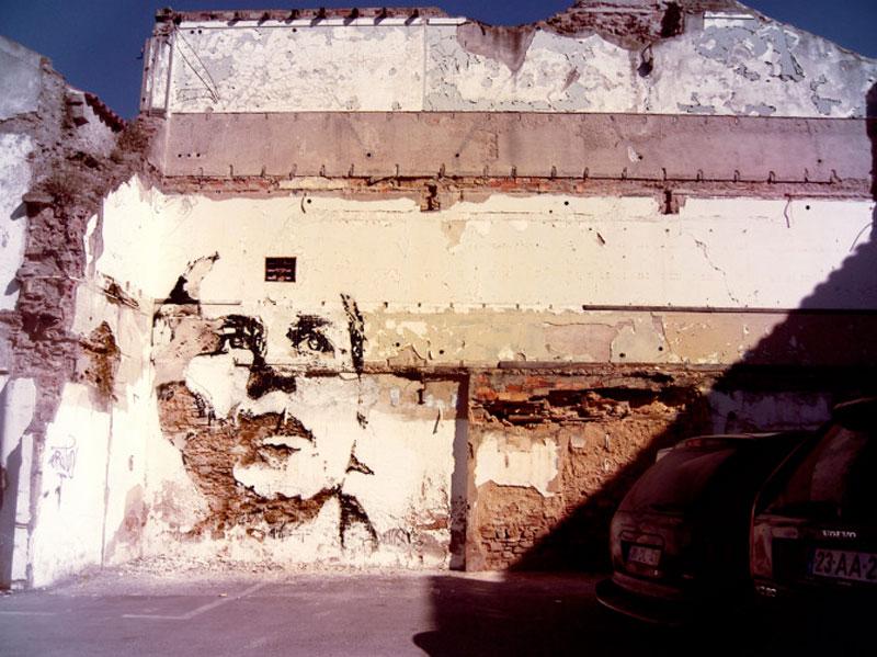 street art portraits 14 Портреты высеченные на стенах