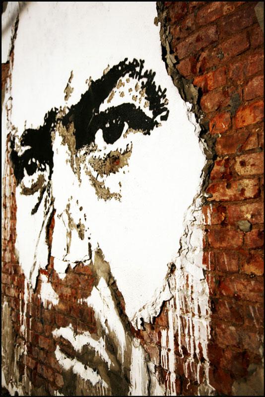 street art portraits 15 Портреты высеченные на стенах