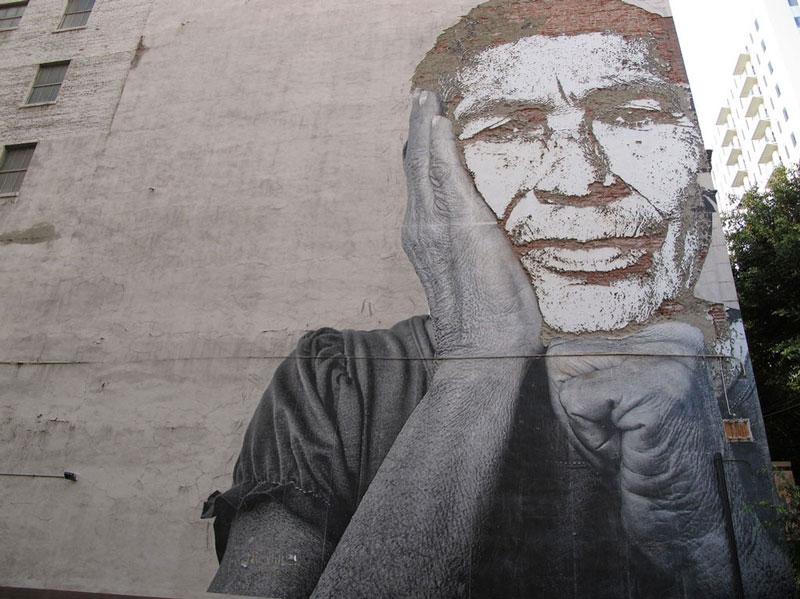 street art portraits 2 Портреты высеченные на стенах