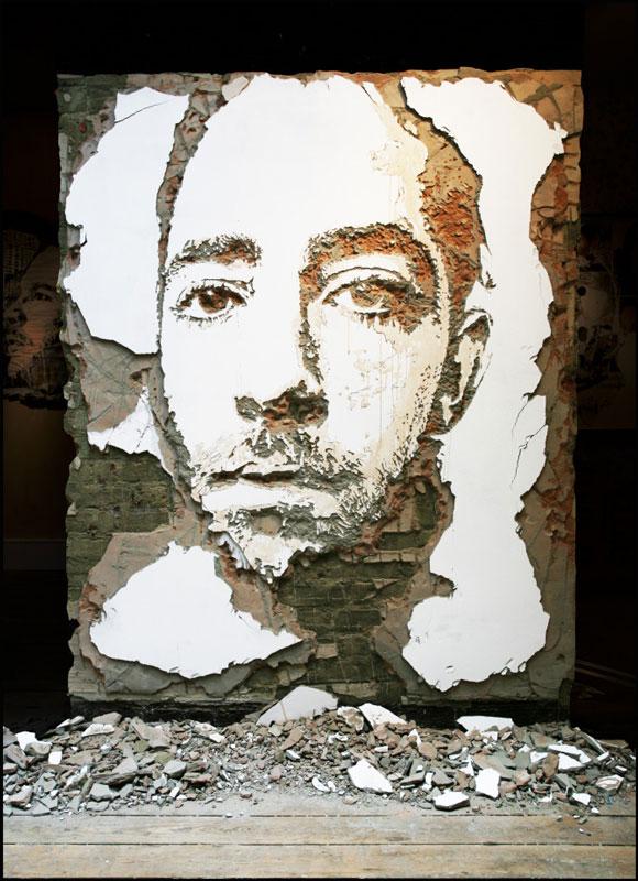 street art portraits 3 Портреты высеченные на стенах