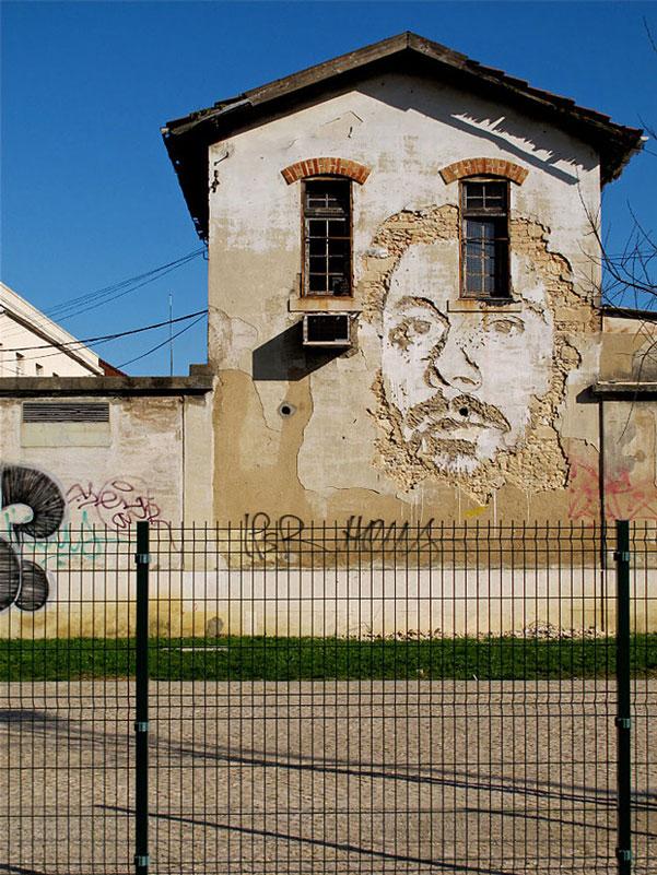 street art portraits 9 Портреты высеченные на стенах