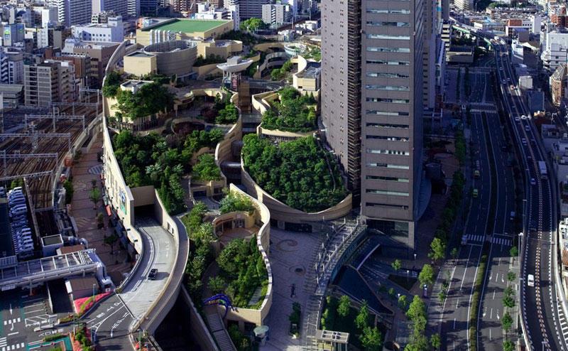 8urovnenipark 1 8 уровневый парк на крыше в Осаке