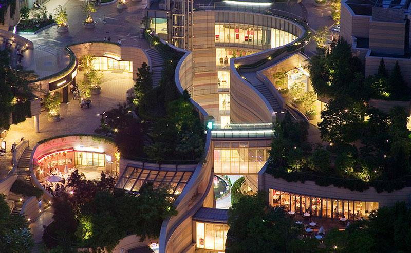 8urovnenipark 7 8 уровневый парк на крыше в Осаке