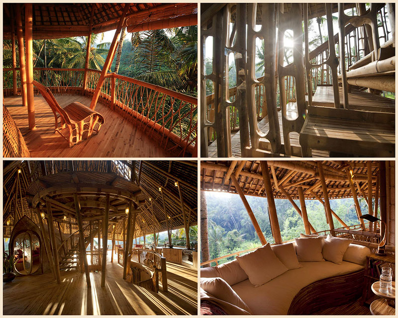 Бамбуковый отель на бали самое